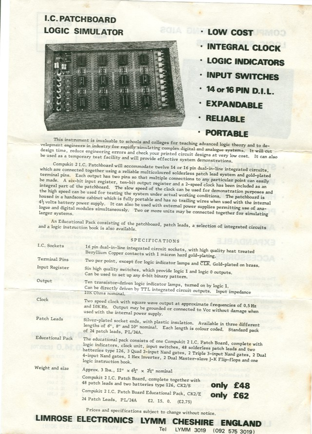 Flyer describing the Compukit 2