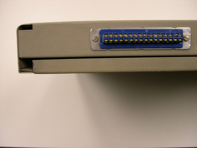 image of Right side connector; the top of the patchboard is facing up