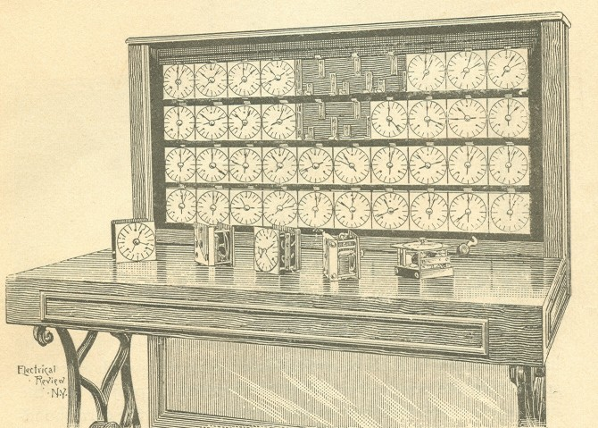 image of The Tabulator section of system as shown in the author's edition of the <i>Electric Tabulating System</i>