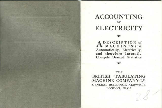 image of Inside front cover and title page of booklet