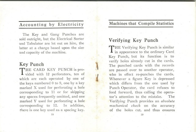 image of Text on the key punches.
