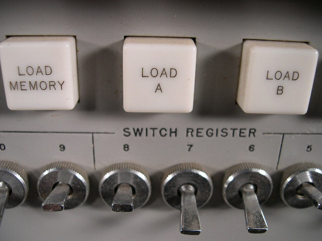 Switch register close-up.