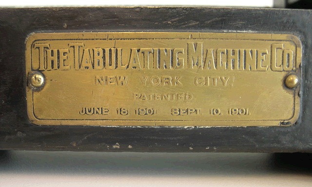 image of Nameplate for the Type 001.