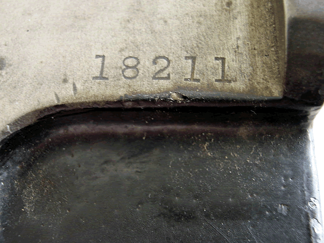 image of Closeup of number etched into the top left of the keypunch.