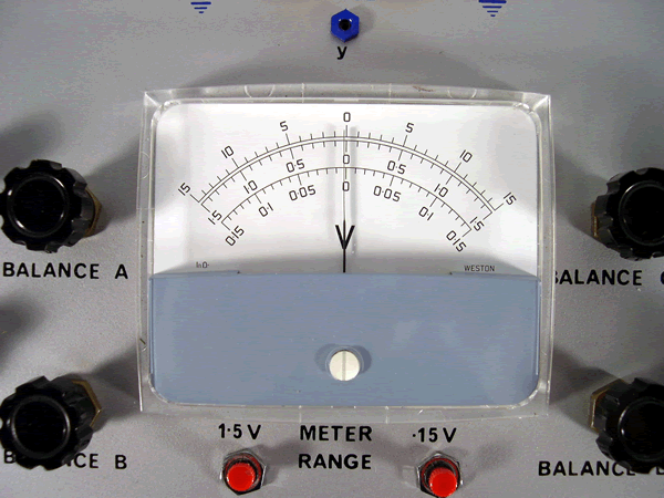 Closeup of the meter on the main unit.