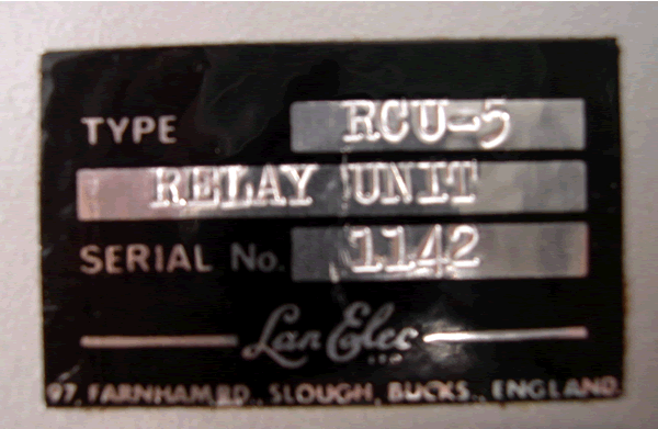 Serial for the relay control unit.