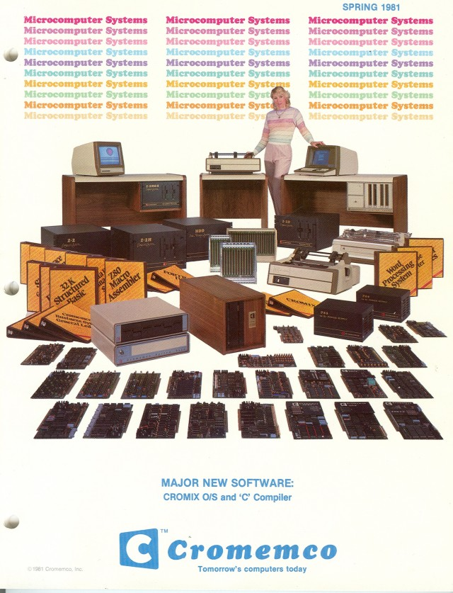 image of Cover of the Sping 1981 Cromemco catalog.