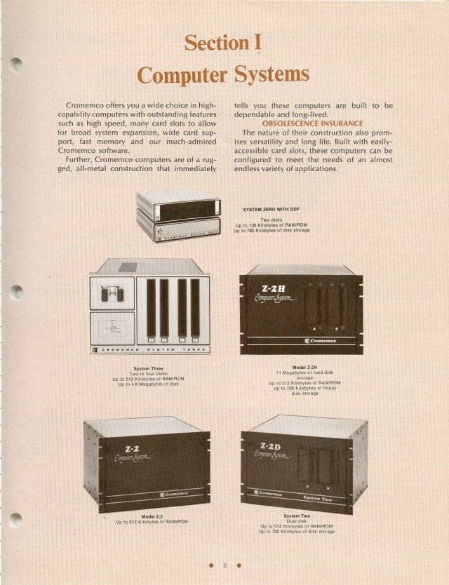 image of The computer systems offered in the Spring of 1981.