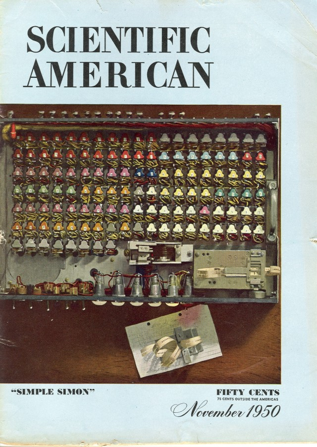image of Cover of Novermber 1950 issue of Scientific American.