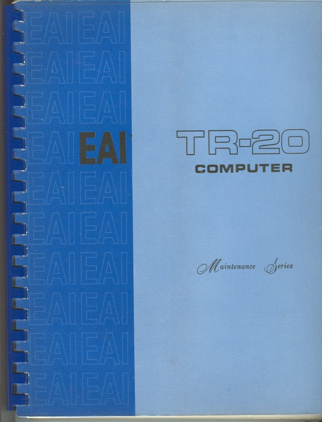 Cover of the TR-20 Maintenance Manual.