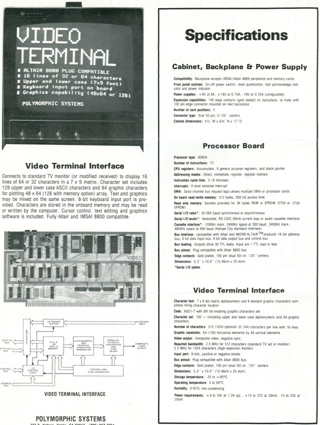 Second page of brochure