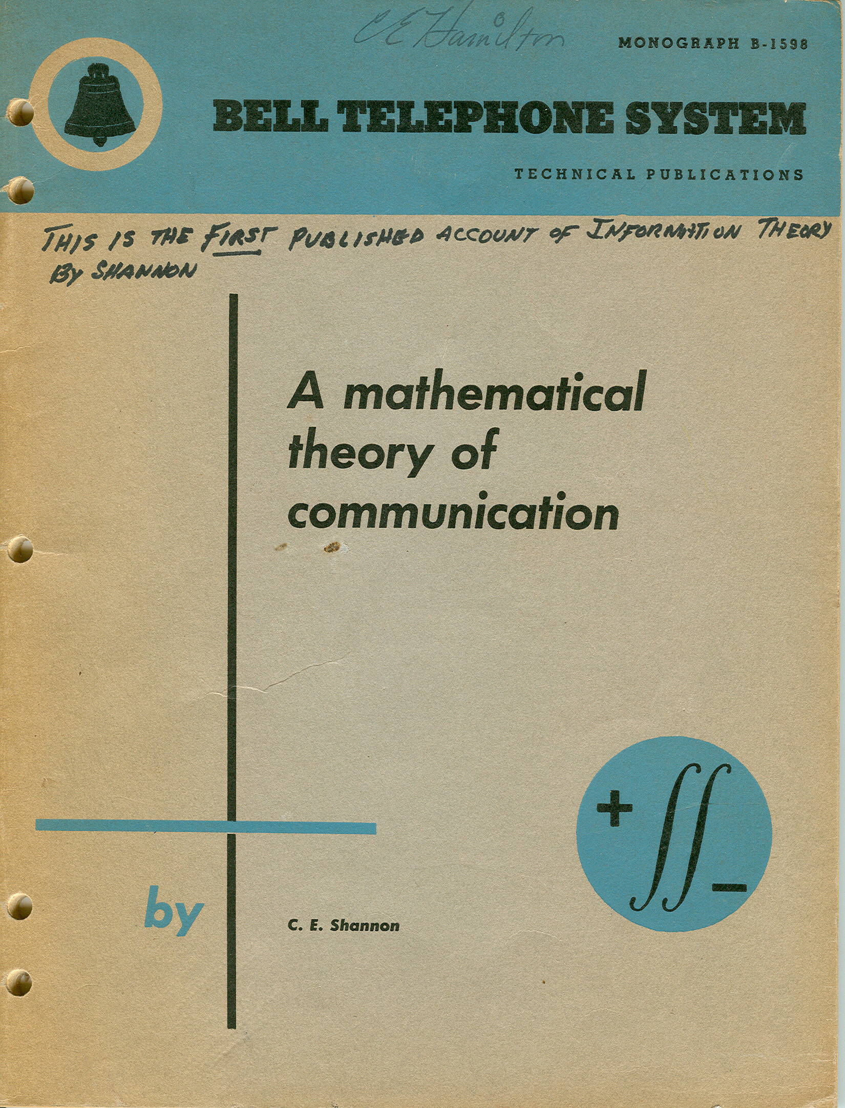 image of Cover of Monograph B-1598