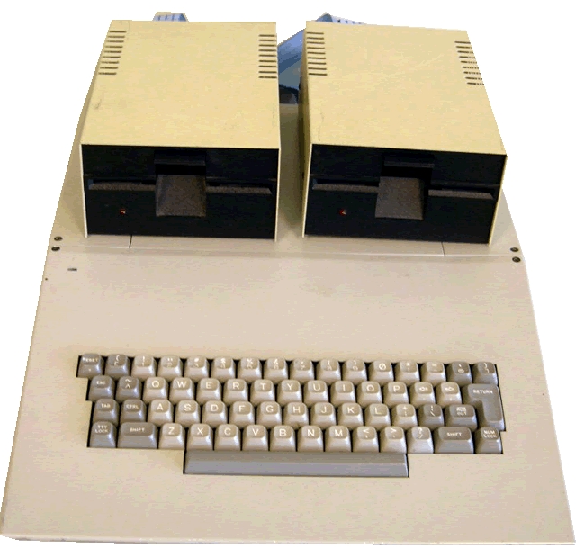 image of top/front view of the computer