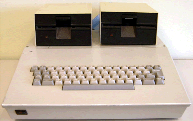 Front shot with both included disk drives.