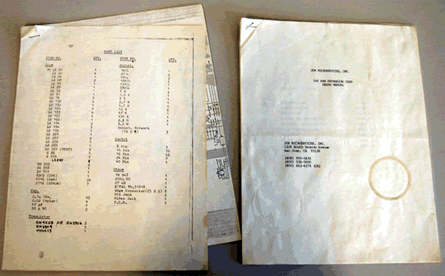 image of Photo of included documents.