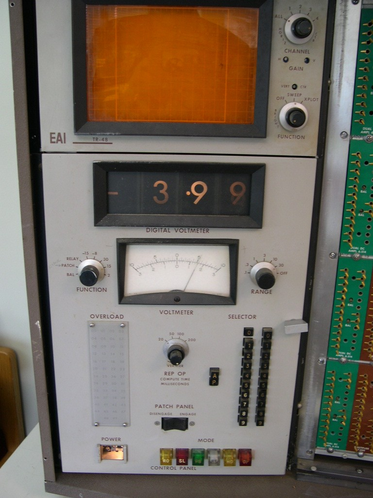 image of closeup of control panel -- left side